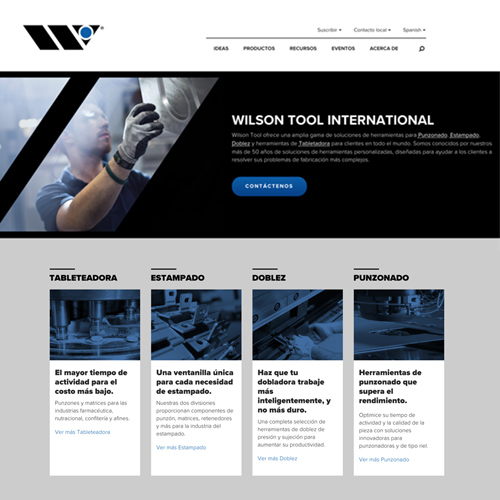 Wilson Tool Announces New Spanish Website