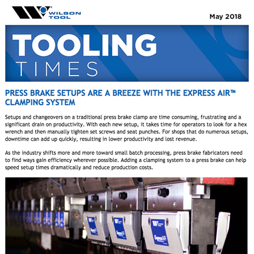 Tooling Times e-Newsletter — May 2018