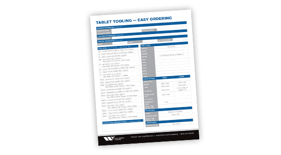 Tablet Tooling Easy Ordering Guide from Wilson Tool International