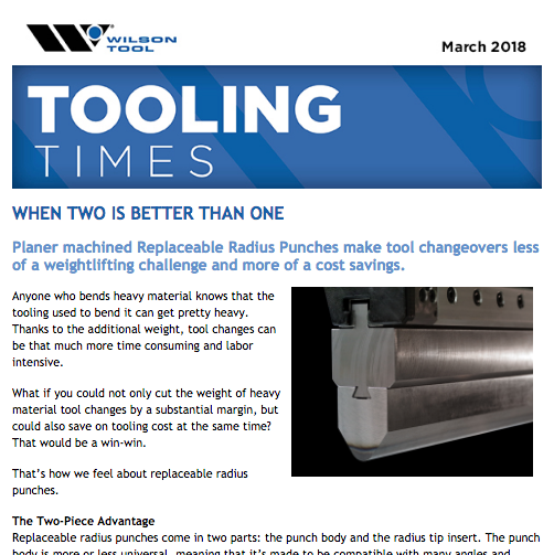 Tooling Times e-Newsletter March 2018