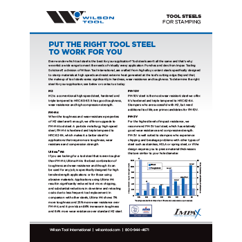 Tool Steels Flyer