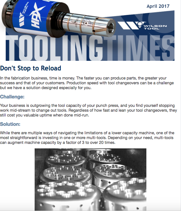 Tooling Times e-Newsletter - April 2017