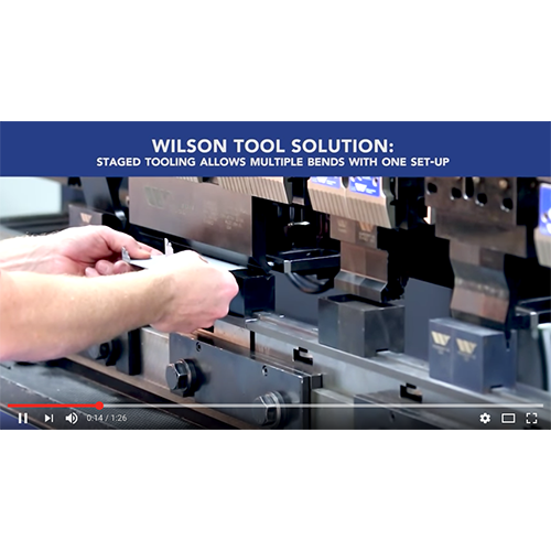 Wilson Tool Staged Tooling