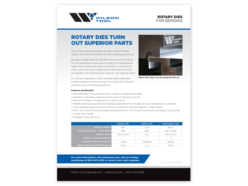 preview of rotary dies flyer