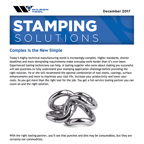 Stamping Solutions e-Newsletter December 2017