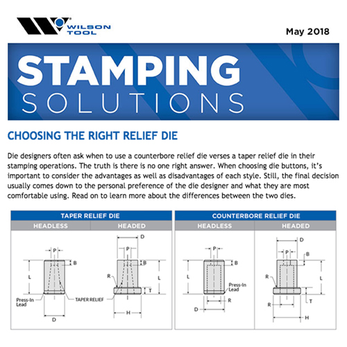 Stamping Solutions e-Newsletter - May 2018
