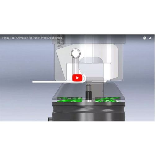 Hinge Tool Animation for Punch Press Application