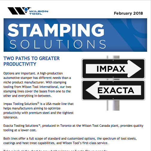 Stamping Solutions e-Newsletter February 2018