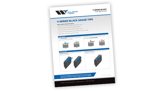 preview of V-Series Black Usage Tips flyer