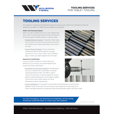 Tooling Services Flyer