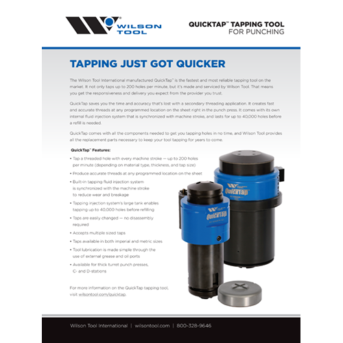 QuickTap™ Tapping Tool