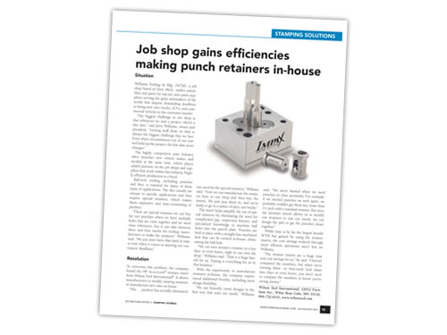 Case Study article about HP Accu-Lock Retainer Inserts