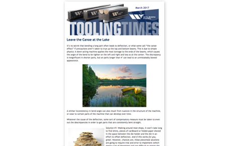 preview of the March 2017 Tooling Times eNewsletter