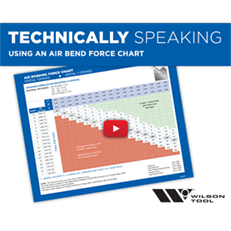 Using an Air Bend Force Chart | Bending | Technically Speaking