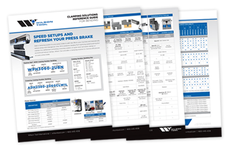 preview of the clamping solutions reference guide brochure