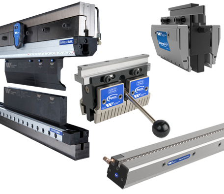 Collage of clamping options including Express Rail Express Crowning and Express Air