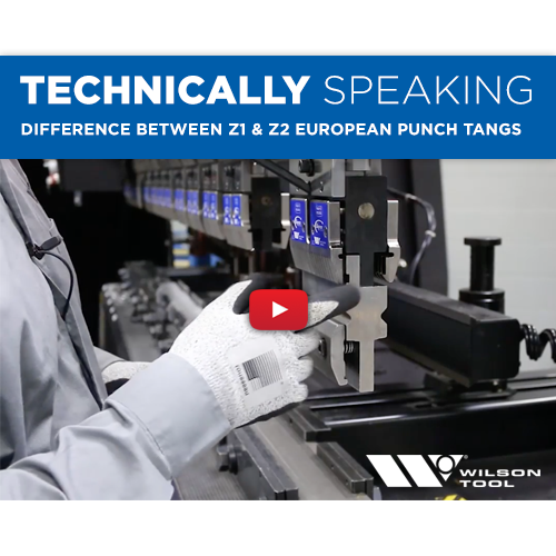 Technically Speaking | Bending | Difference between Z1 & Z2 European Punch Tangs