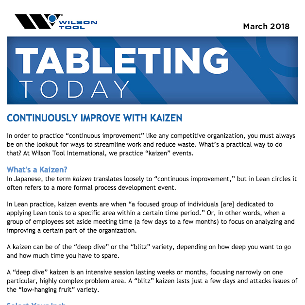 Tableting Today e-Newsletter March 2018
