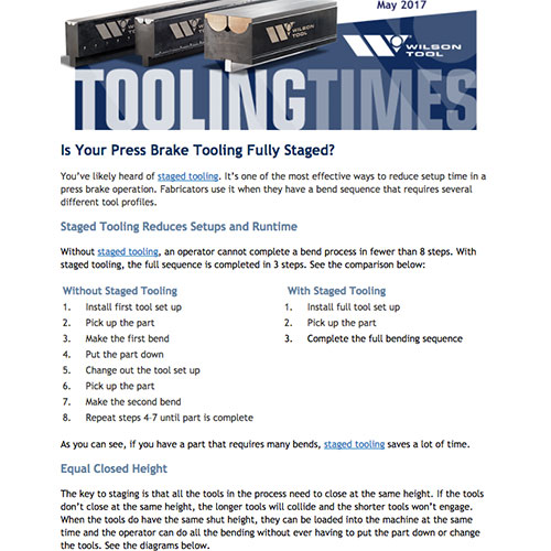 Tooling Times e-Newsletter - May 2017