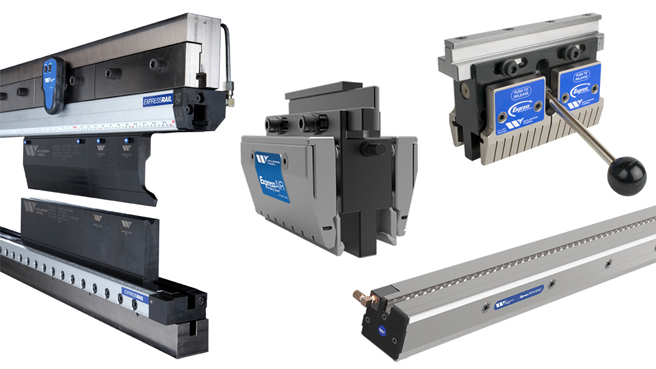 Clamping solutions including Express Rail Express Air and Express Crowning