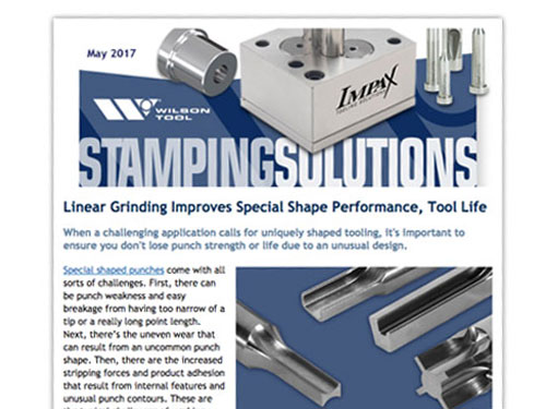 Stamping Solutions eNewsletter May 2017 featuring 2D Shapes