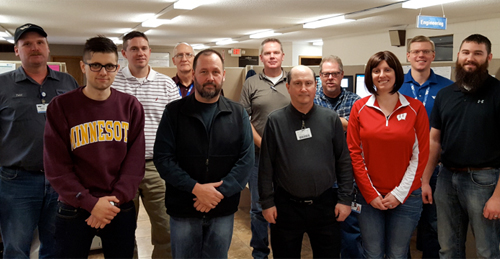 photo of the Wilson Tool International  Continuous Improvement team
