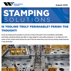 Stamping Solutions e-Newsletter August 2018