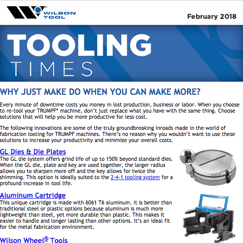 Tooling Times e-Newsletter February 2018