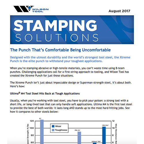 Stamping Solutions e-Newsletter August 2017