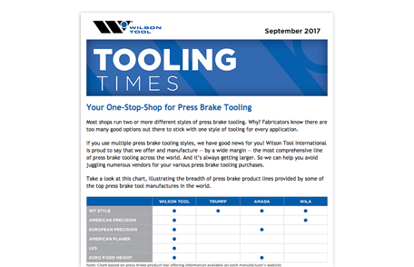 Preview of September 2017 Tooling Times eNewsletter