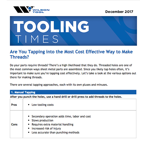Tooling Times e-Newsletter December 2017