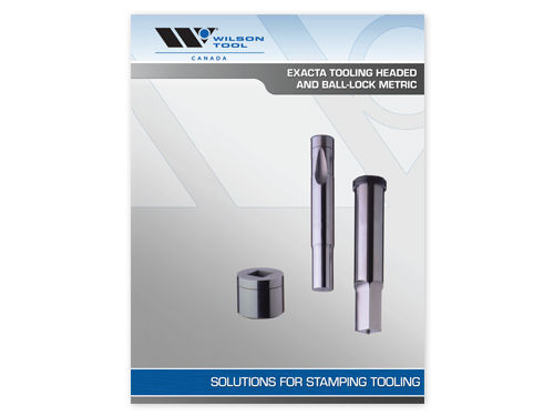 preview of the Exacta tooling solutions headed and ball-lock metric catalog