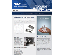 Preview of newsletter article Hinge Options for your Punch Press