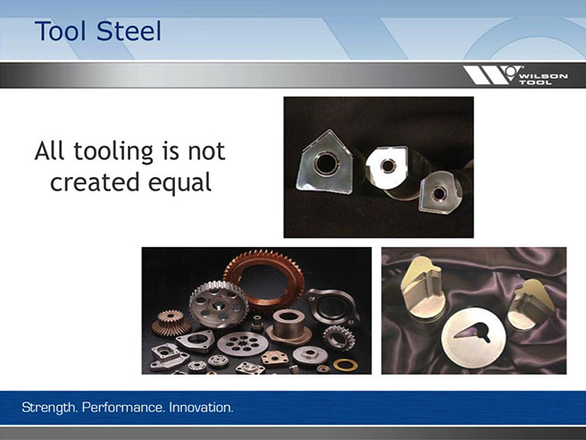 preview of image from Wilson Tool webinar on tool steels