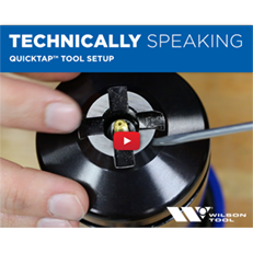 QuickTap™ Tool Setup | Punching | Technically Speaking