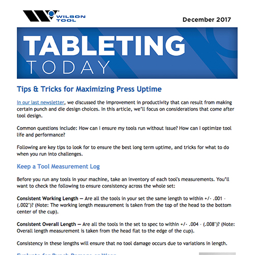 Tableting Today e-Newsletter December 2017